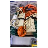 BOX OF MISC. EXTENSION CORDS