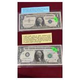 OLD SILVER CERTIFICATE & ONE DOLLAR BARR NOTE