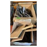 2 BOXES OF HORSE TACK & WOOL CARDERS