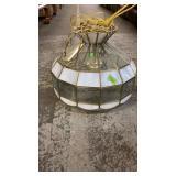 HANING SLAG GLASS LAMP