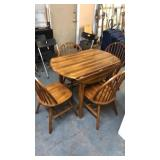 MAPLE DROP LEAF TABLE & 4 CHAIRS