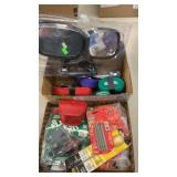 2 BOXES W/ FIRE STARTER KITS, WIRE NUTS, RATCHET