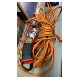 HEAVY DUTY ORANGE EXTENSION CORD & SNAP ON TROUBLE
