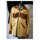 Vintage Fringe Buckskin Coat