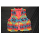 Pendelton Wool Vest w/ Indian Head Nickel