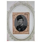 Antique Tintype Headshot Soldier