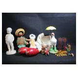 Lot of Vintage Dolls Plaster figure