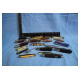 Large Lot of Vintage Pocket Knives Barlow Case