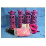 Lot of New Items Glass Water Bottles Jump Rope