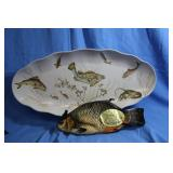 Great! Vintage Fish Platter w/ Oven Mitt