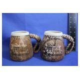 Vintage Oregon Centennial Coffee Mugs