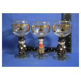 Vintage Figural Wine Goblets by Goebel Hummel?