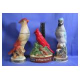 Lot of Vintage Bird Decanters Fantastic