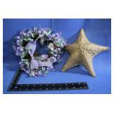 Heart shaped light up wreath Starfish