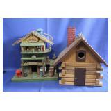 Lot of 2 Decorative Bird Houses