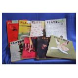 Lot of Vintage Playboy Magazines 1959-61