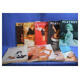 Lot of Vintage Playboy Magazines 1964