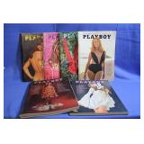 Lot of Vintage Playboy Magazines 1968