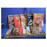 Lot of Vintage Playboy Magazines 1973