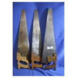 Lot of 3 Vintage Hand Saws