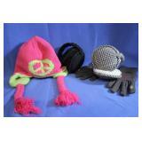 Lot of Winter Gear  Hat 2 Ear Muffs Gloves