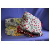 Lot of 2 Fleece Lap Blankets