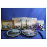 Thomas Kinkade Ceramic Art Pieces