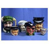 Lot of Face Mugs Made in Occupied Japan, Japan
