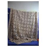 Vintage Crochet Large Table Cloth or Twin Bed