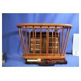 Backgammon Set and Wood Magazine Rack