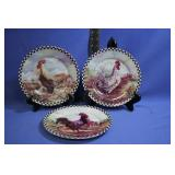 Nice Rooster Collectable Plates