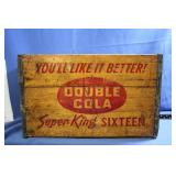 Vintage Double Cola Wooden Crate