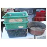 Lot of Hanging Livestock Feeders w/ Small Bowl