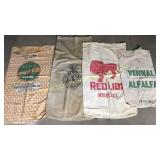 4 feed and seed sacks