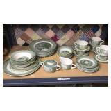 6 place setting of old curiosity shop china 40