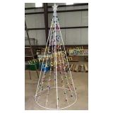 Lighted Christmas tree yard art 8ft
