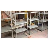 Pair of 24x48h industrial metal shelves