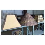 3 vintage lamp shades