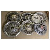 Group of 7 spoke hubcaps
