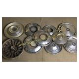 Group of 10 hubcaps