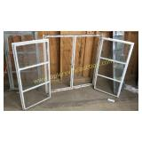 3 Cool Industrial 6pane hinge windows chippy