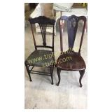 2 unusual antique chairs