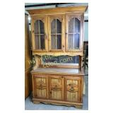 Lighted china hutch 44in wide