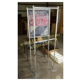 2 sign stands