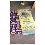 Corinth sesquicentennial banner & USA material