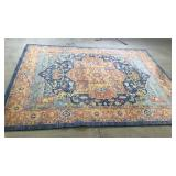 Blue and orange 8x10 area rug great colors