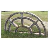 HEAVY 8ft long architectural metal arbor from