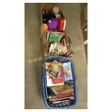 3 boxes books and kids items