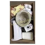 Box of small appliances-can opener, mini