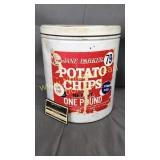 Jane Parker potato chip tin